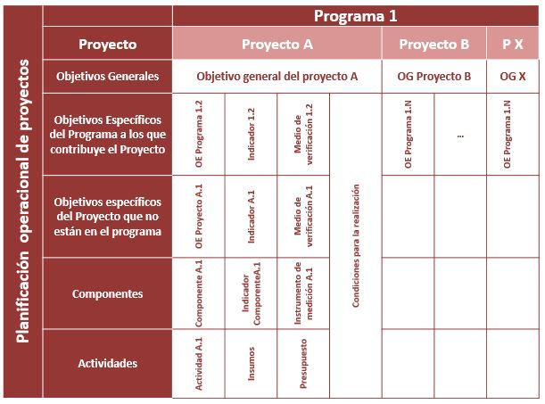 Ilustración 5: Objetivos Políticos y Matriz de Planificación de Proyecto